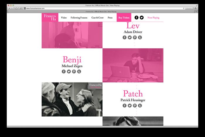 Frances Ha Poster and Website 3
