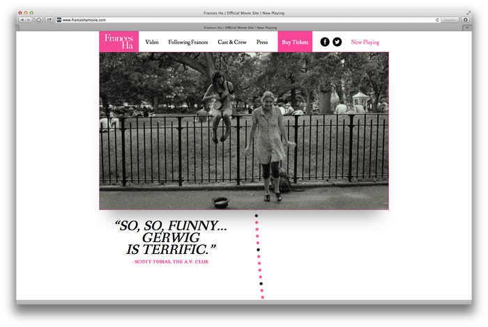 Frances Ha Poster and Website 4