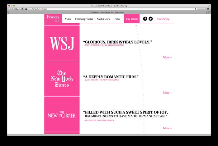 Frances Ha Poster and Website 5