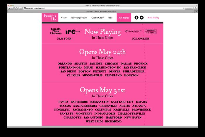 Frances Ha Poster and Website 6