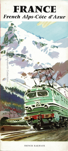 France, French Alps–Côte d'Azur and Pyrenees–Basque Coast SNCF travel brochures (1959)