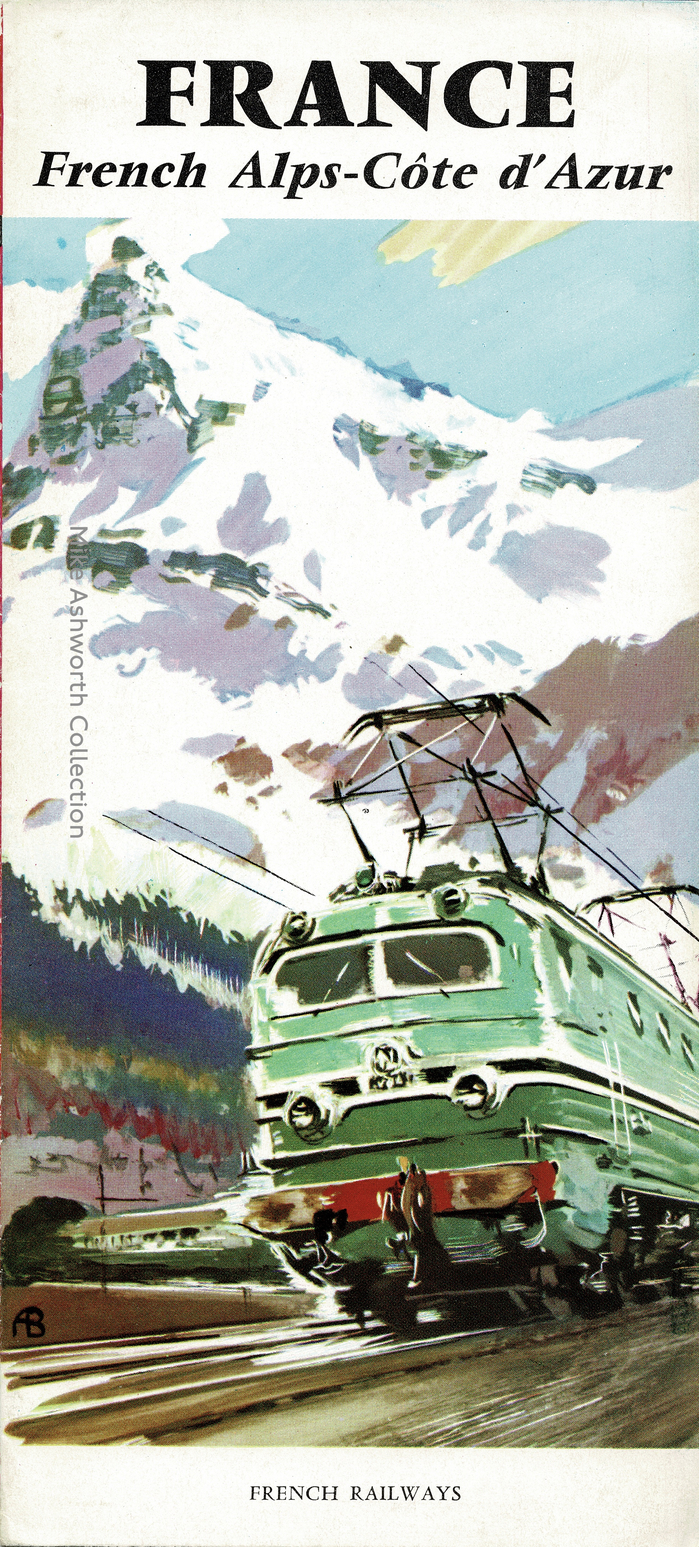 France, French Alps–Côte d'Azur and Pyrenees–Basque Coast SNCF travel brochures (1959) 1