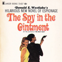 <cite>The Spy in the Ointment</cite> by Donald E. Westlake (Lancer Books)
