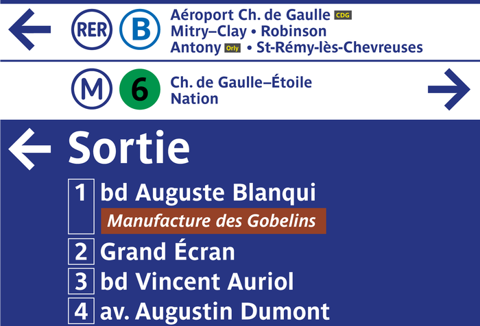 RATP metro signs and identity 1