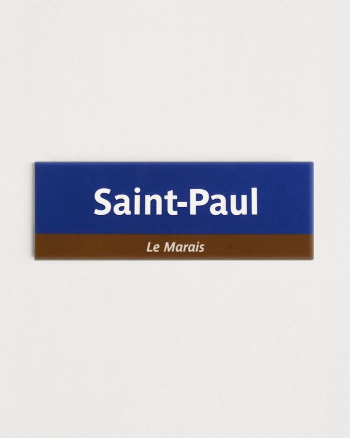 Saint-Paul station fridge magnet, from the RATP merchandise shop.