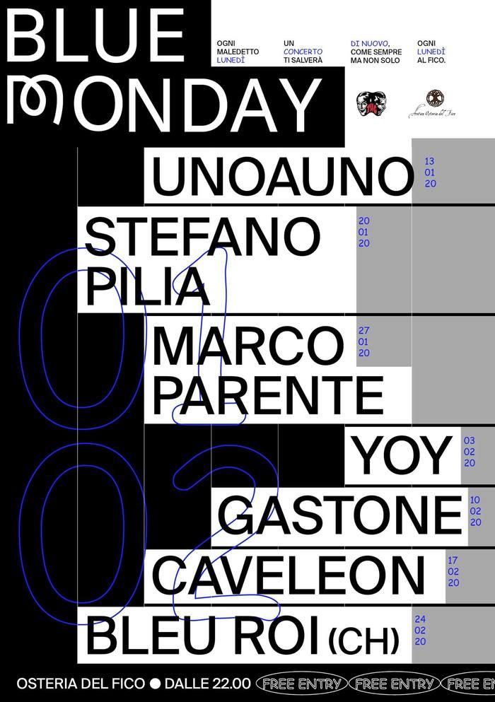 Blue Monday poster series 1