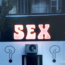 """SEX"" neon sign, Nice"