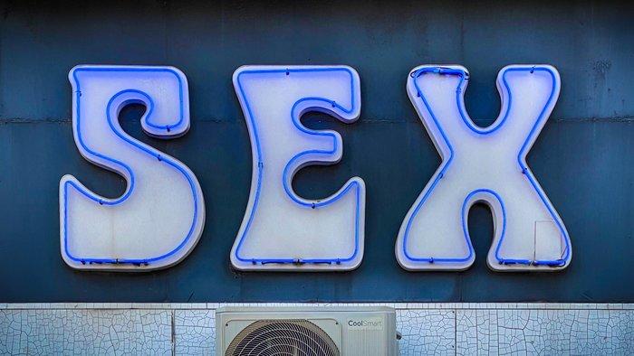 """SEX"" neon sign, Nice 1"