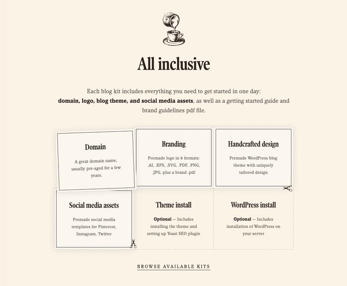 Visual Coffee website 3