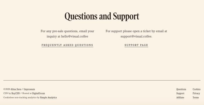 Visual Coffee website 5