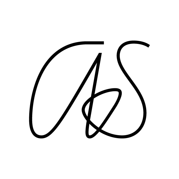 Monogram featuring one of the several contextual alternate combinations found in the Line font.