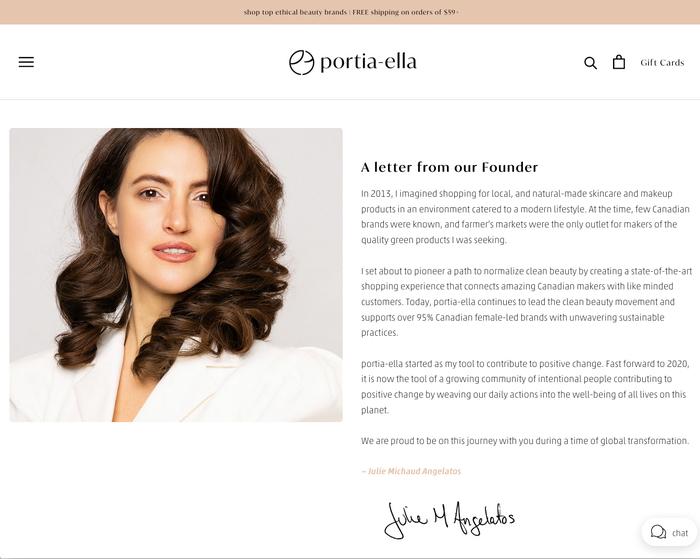 Portia-ella website 6