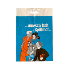 """…muesch halt i Ryfflihof…"" plastic bag"