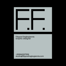 Filippos Fragkogiannis personal visual identity