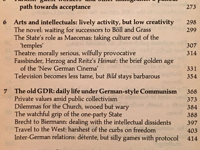 Detail from the table of contents, with Palatino Bold for chapter titles.
