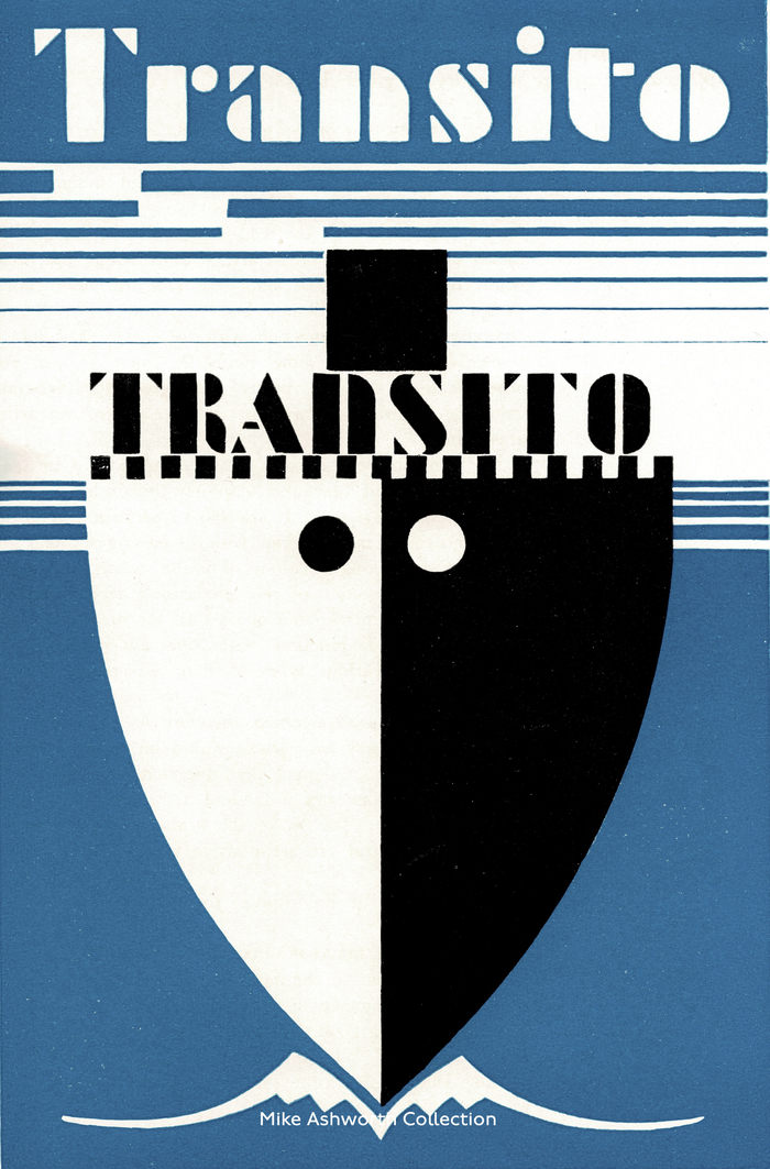 Transito typeface specimen brochure cover