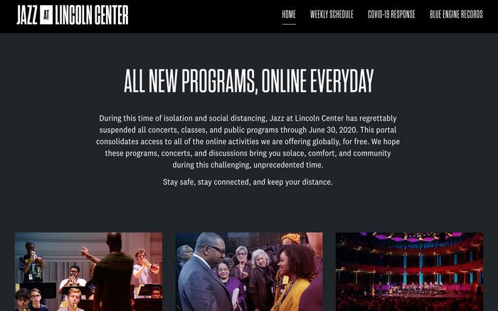 Jazz at Lincoln Center website 1