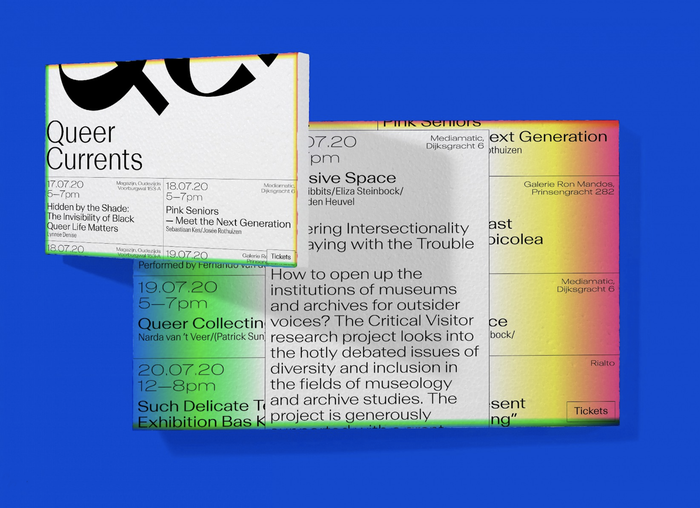 Queer Currents identity and website 2