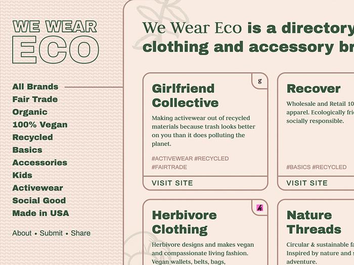 We Wear Eco Website 1