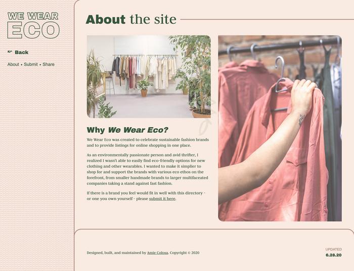 We Wear Eco Website 2