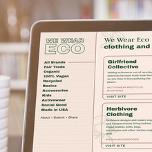 We Wear Eco Website