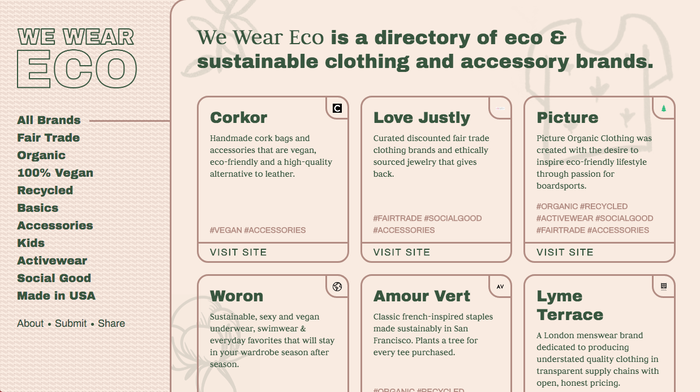 We Wear Eco Website 4
