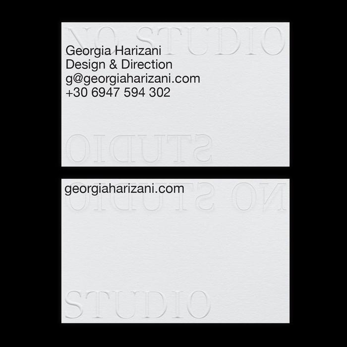No Studio business cards 2