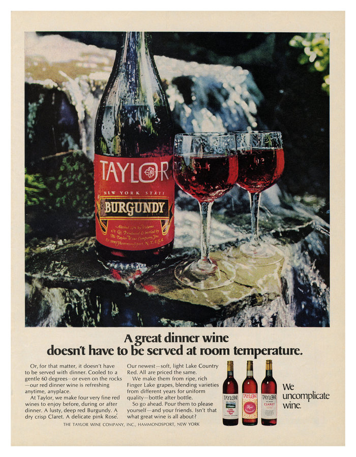 Taylor Wine ad (1969)