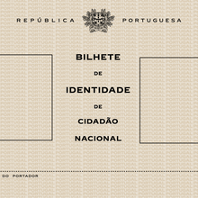 Bilhete de Identidade (Portuguese identity card), 1971–1987