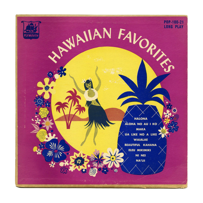 Hawaiian Favorites album art (Plymouth Records)