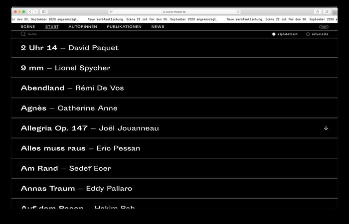 Scène website 1