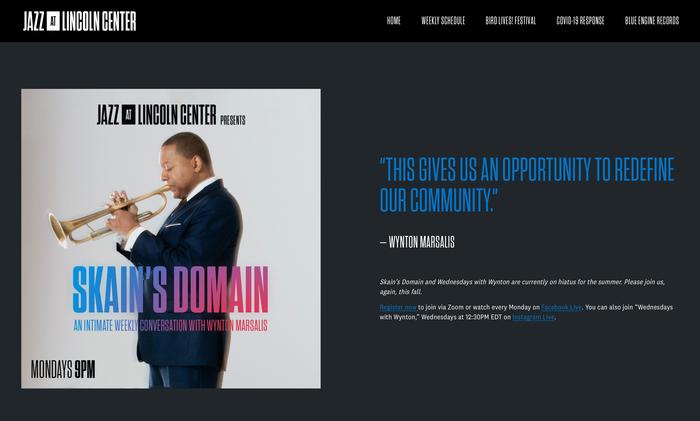 Jazz at Lincoln Center website 3