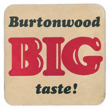 "Burtonwood ""BIG taste!"" beermats"