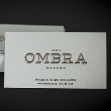 Ombra Restaurant stationery