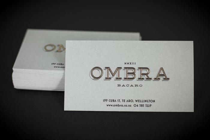 Ombra Restaurant stationery 2