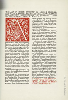 Broadsheet advert for <cite>The Art of Hesketh Hubbard</cite> by Haldane Macfall