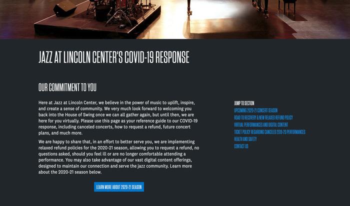Jazz at Lincoln Center website 4