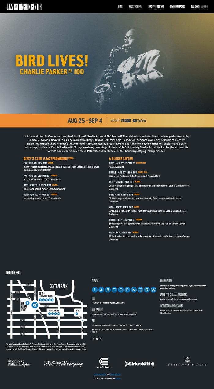 Jazz at Lincoln Center website 5