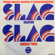 "Gemello Twins – ""Slag Solution"" single cover"