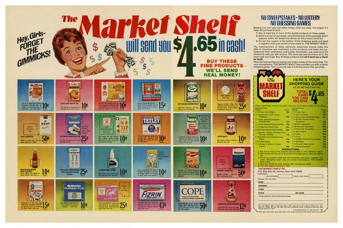 The Market Shelf ad (1969) 1