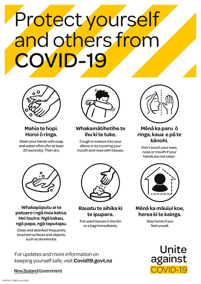 """Unite against COVID-19"" campaign, New Zealand Government 14"