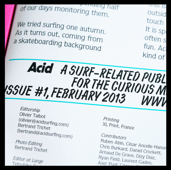 "Acid magazine, vol. 1 ""Hardly any turns"" 12"
