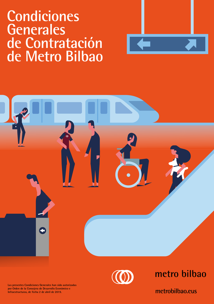 Cover of a brochure with general contracting conditions, 2019.