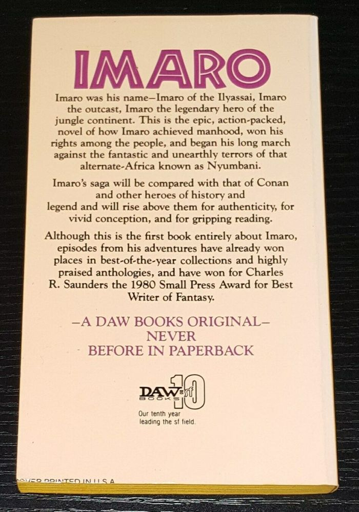 The blurb on the back cover is set in center-aligned .