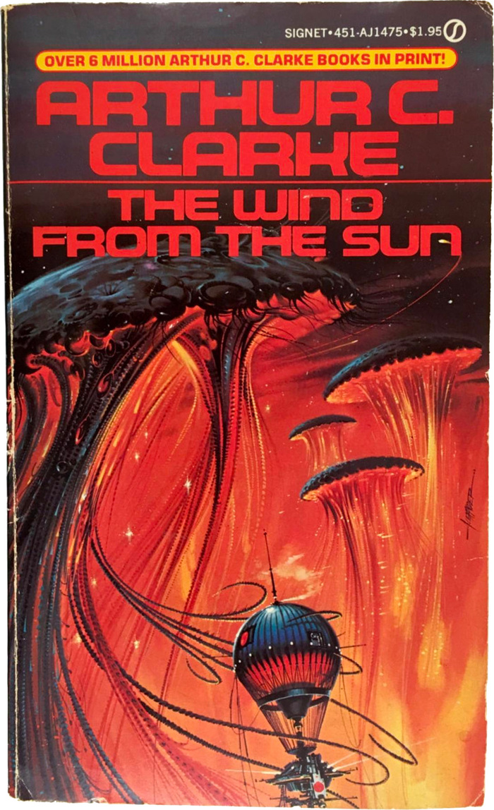 The Wind from the Sun, 1982. Cover art by Paul Alexander. [ISFDB]
