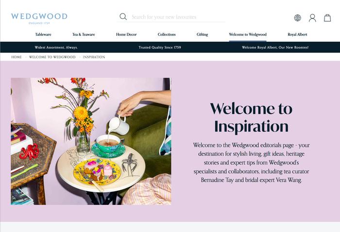 Wedgwood website 4