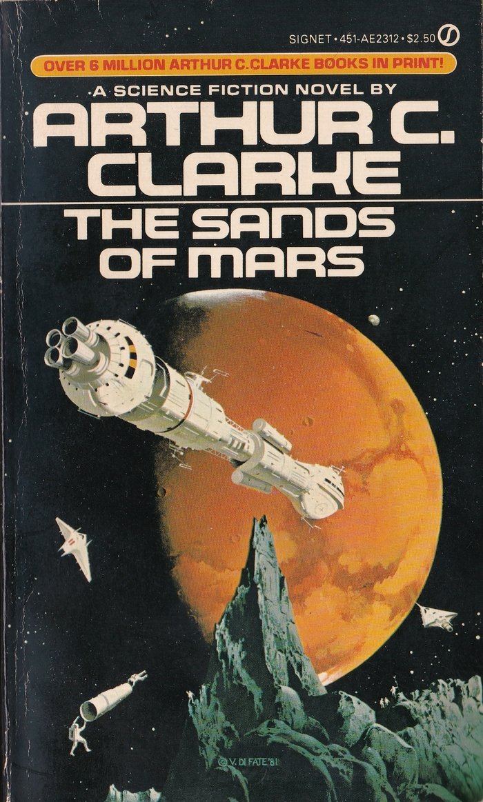 The Sands of Mars, ca. 1983. Cover art by Vincent Di Fate, 1981. [ISFDB]