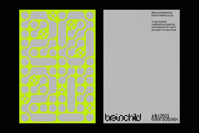 Brainchild Festival 2021 identity (fictional) 3
