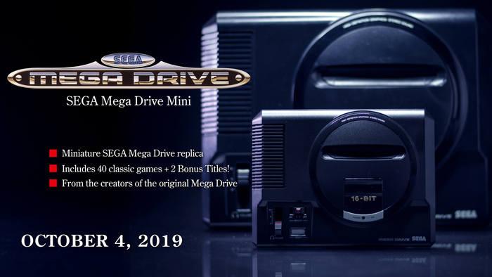 Web announcement of the SEGA Mega Drive Mini, 2019.