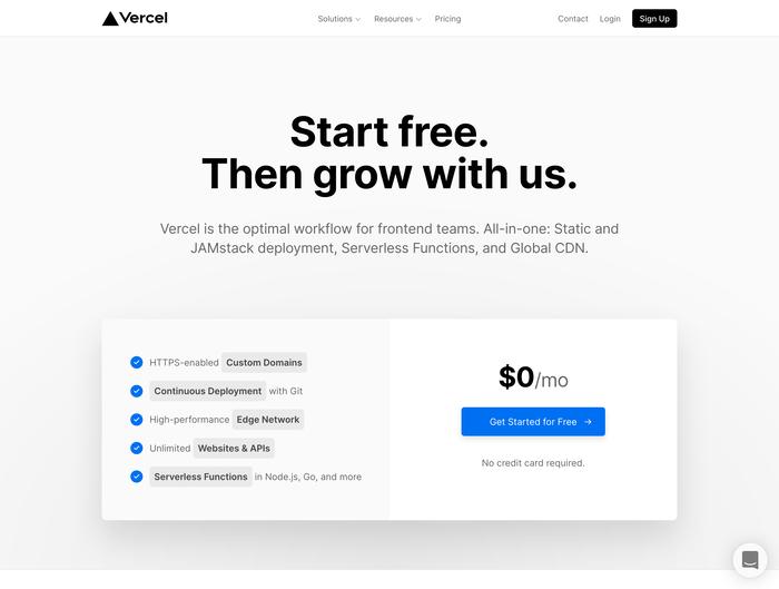 Vercel website 2
